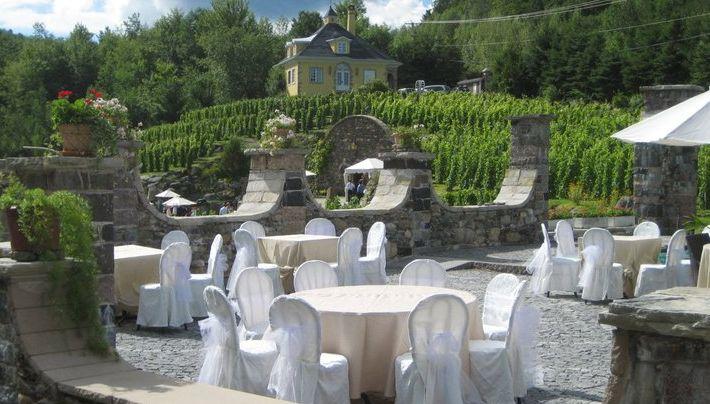 terrasse vignoble de la Chapelle Ste-Agnès