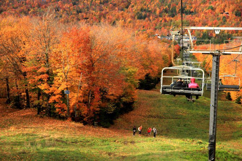 Couleurs d'automne au Mont Sutton