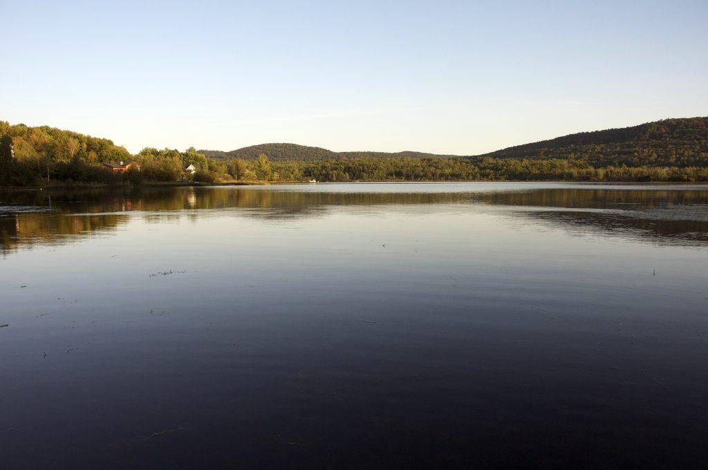 Plage Bromont. Lac Bromont. Bromont.