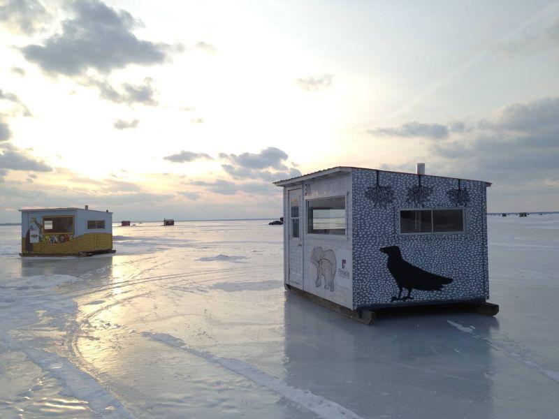 Pêche sur glace - la Champlain