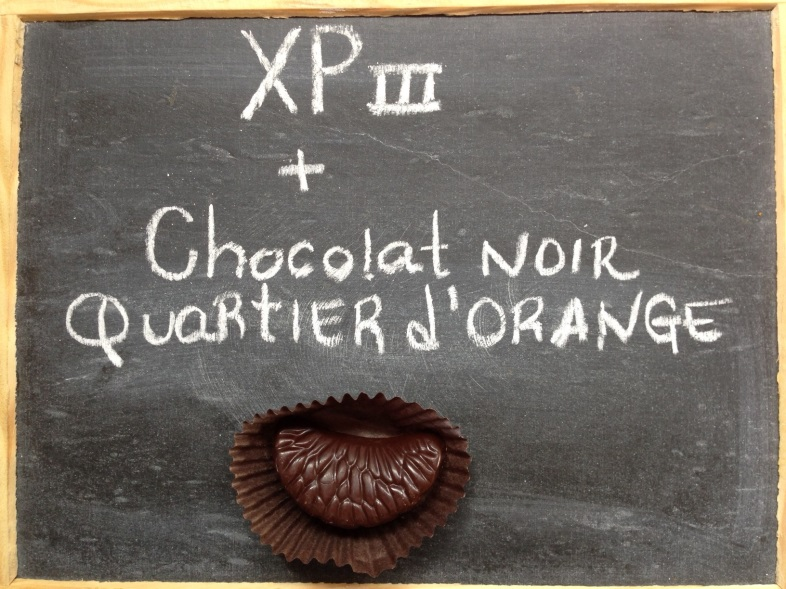 XP 3 et chocolat noir à l'orange