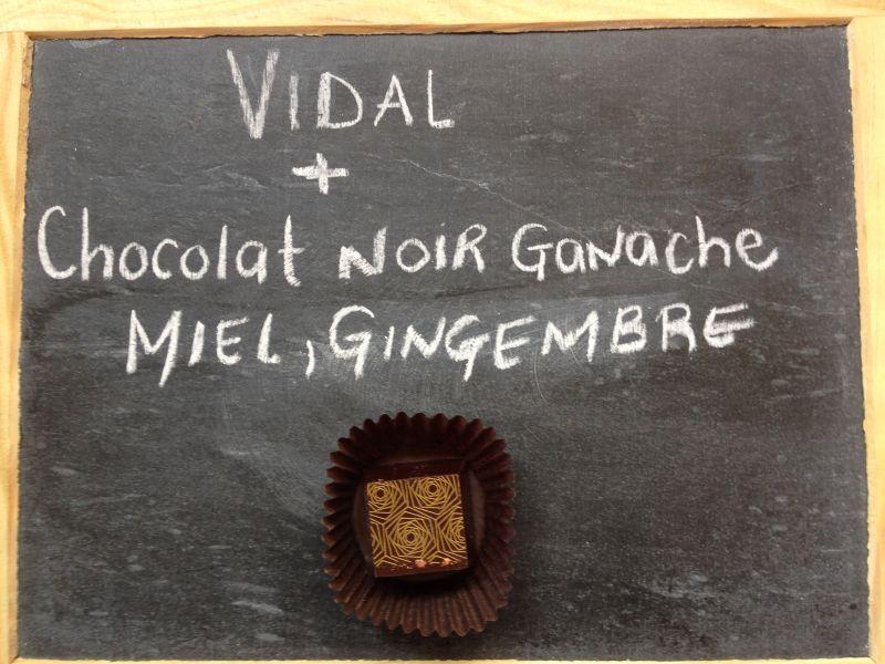 Vidal et chocolat noir gingembre